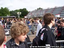 La foule faisant la queue pour la Japan Expo
