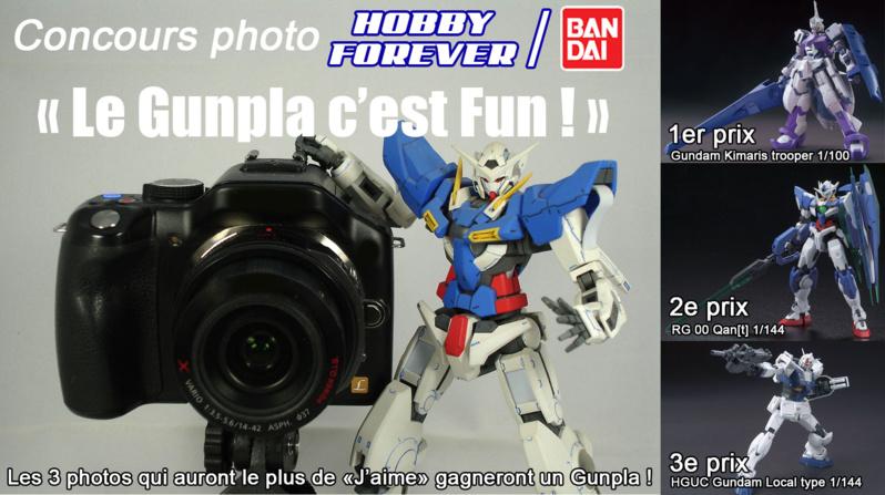 "Concours photo Facebook ""LE GUNPLA C'EST FUN !"" en partenariat avec Bandai"