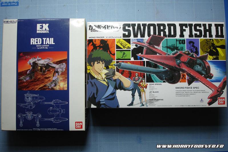 Les boites du Red Tail et du Sword Fish II