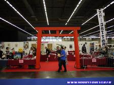 Vue générale du stand avant l'ouverture, les papercraft représentent une belle part de l'expo