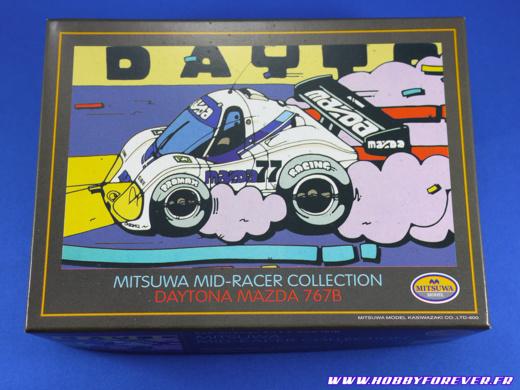 La boite de la Daytona Mazda 767B et son illustration super cool !