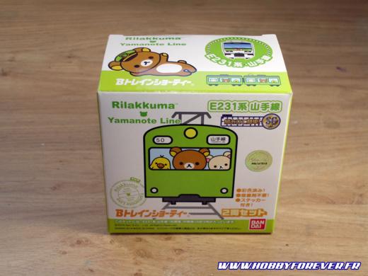 La boite du B-train Shorty Series E231 Yamanote Line Rilakkuma