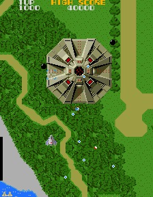 Screenshot de la version arcade de Xevious
