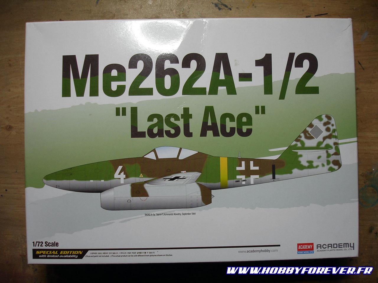 La boite du Me262A-1/2 1/72 d'Academy