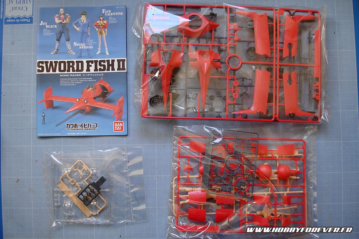 Le contenu de la boite du Sword Fish II