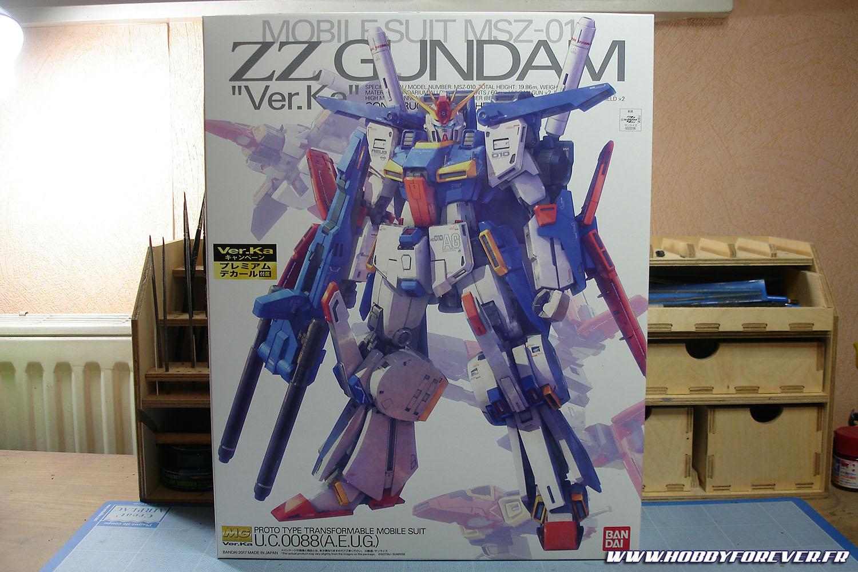 L'imposante boit du MG ZZ Gundam ver.Ka