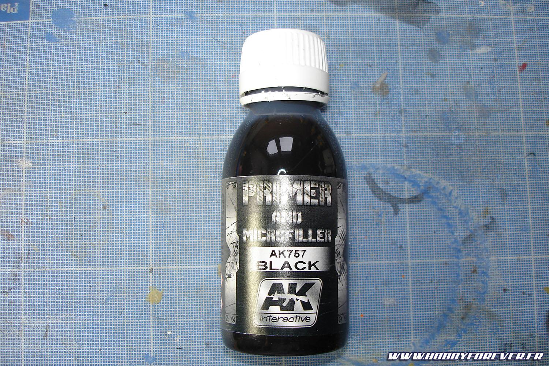 La sous-couche noire + review du Primer & Microfiller BLACK de AK Interactive