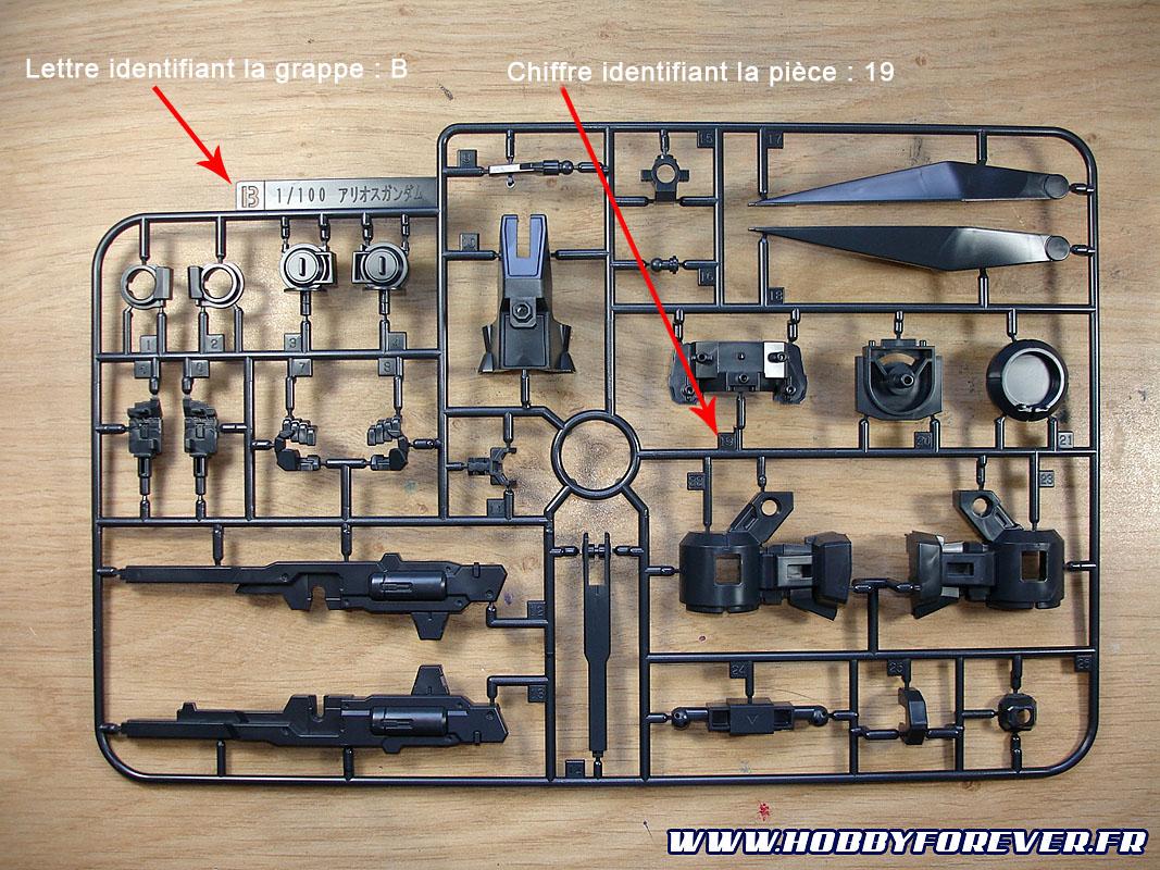 Il est très simple d'identifier les pièces, ici la B19, la 1ère indiquée dans le plan.