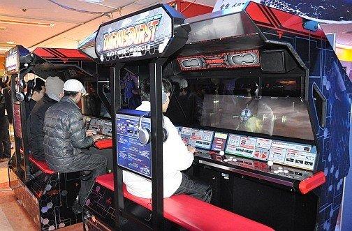 L'imposante borne d'arcade de Darius Burst - Another Chronicle