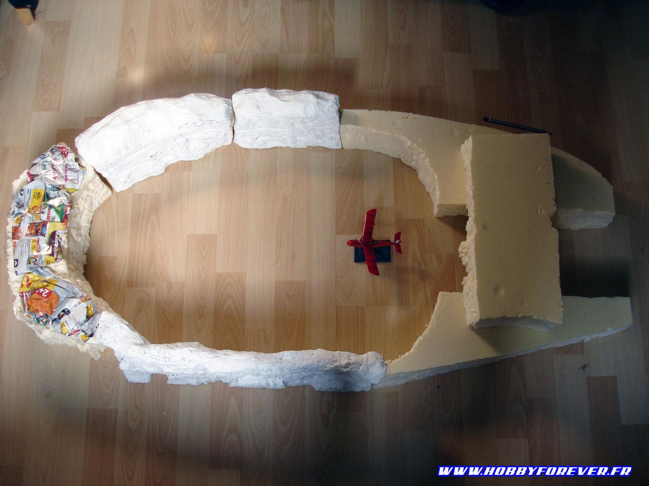 Une idée de la taille du diorama en phase de conception des falaises
