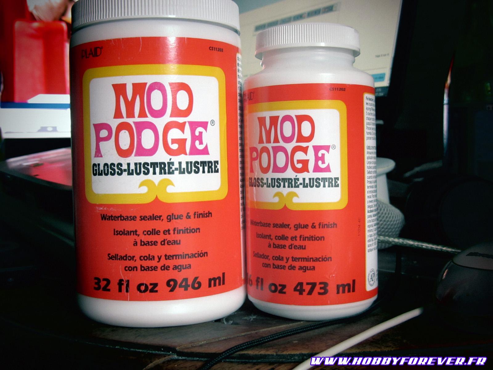 Notre arme secrète pour l'eau : le Mod Podge gloss !