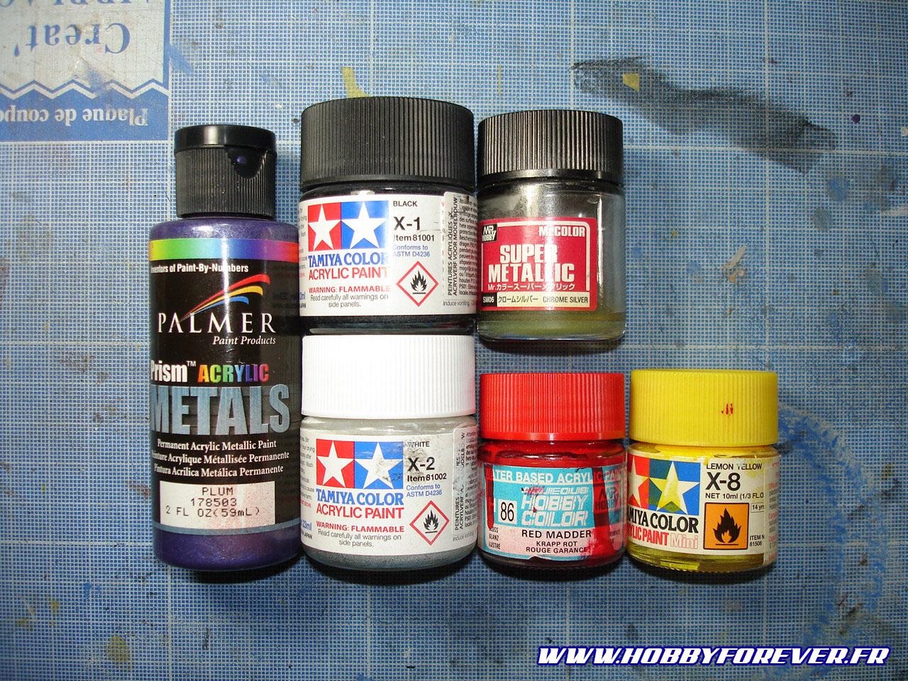 Les principales couleurs utilisées