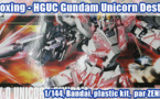 Unboxing - HGUC RX-0 Gundam Unicorn [Destroy mode]