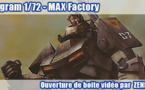 Ouverture de boite vidéo : Dougram de MAX Factory