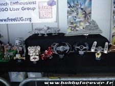Modèles Star Wars en LEGO sur le stand Freelug