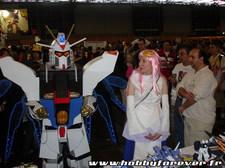 Visite du Freedom Gundam et de Lacus Clyne sur notre stand !