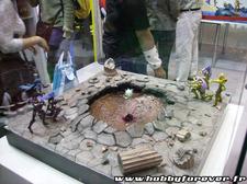 L'un des diorama Saint Seiya sur le stand Bandai
