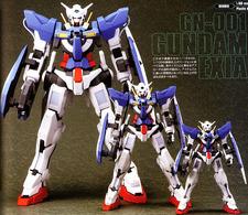 Gundam Exia au 1/60, au 1/100 et au 1/144