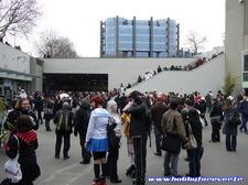 La cour centrale de l'Espace Champerret, un public bigarré !