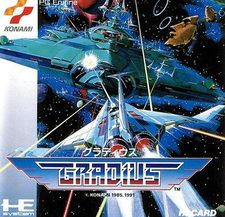 Jaquette de la version PC Engine de Gradius