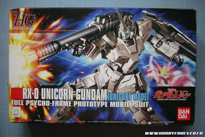 Boite du HGUC RX-0 Unicorn Gundam [Unicorn mode]