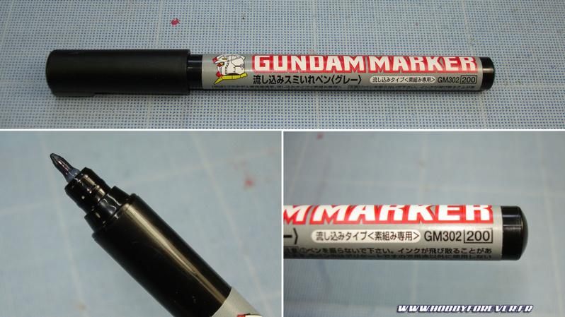 Le Gundam Marker GM302 gris