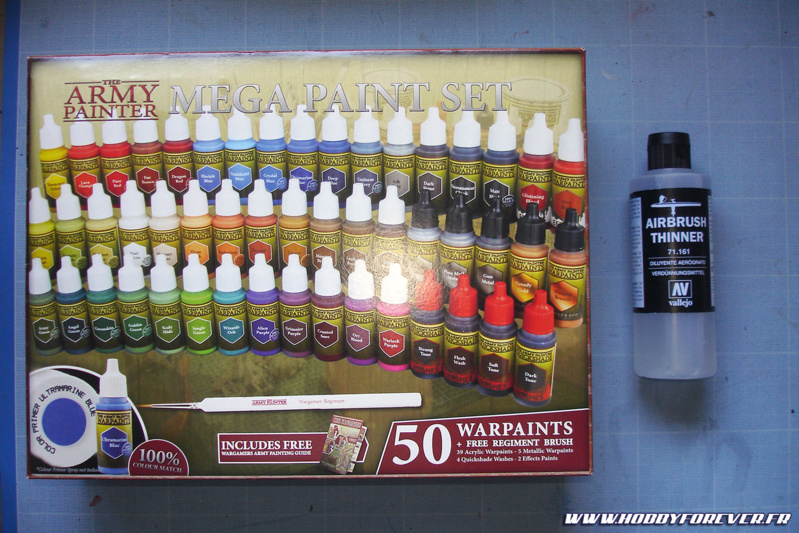 Arrivage Army Painter Mega Paint Set Vallejo Airbrush Thinner