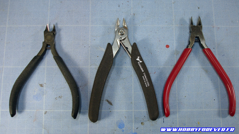 Sharp Pointed Side Cutter de Tamiya, Stainless Steel Nipper de Tsunoda, Redman3