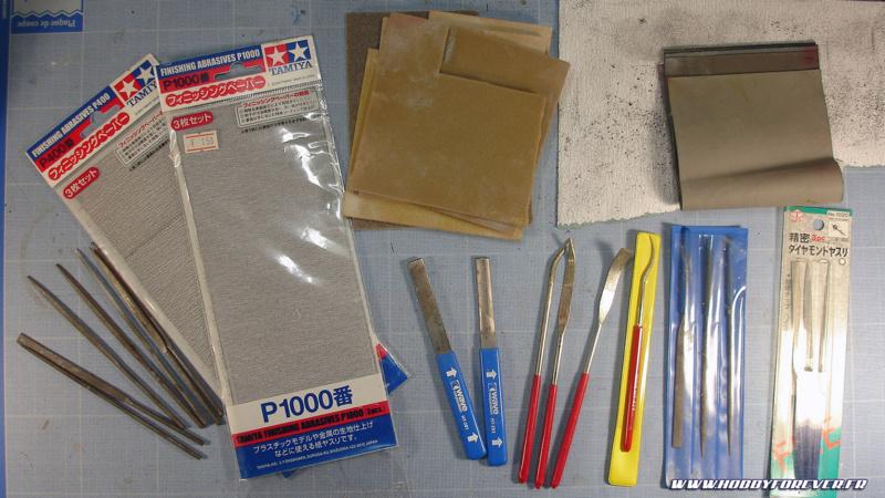 Dans l'atelier du maquettiste - 2. les outils de ponçage