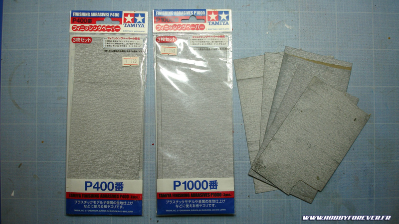 Papiers abrasifs Tamiya
