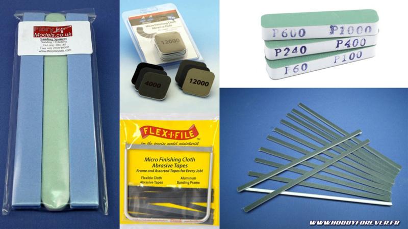 Quelques exemples d'autres produits pour poncer