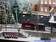 Superbe diorama ferrovière d'une ville russe