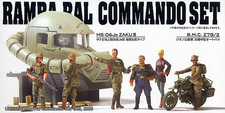 Le UCHG Ramba Ral Commando SET et sa tête de Zaku II au 1/35