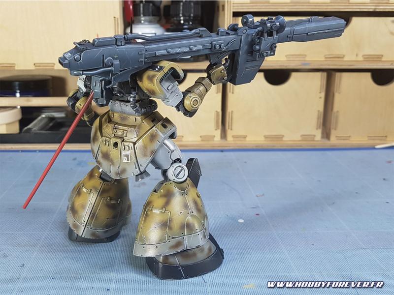 WIP - HG YMS-08B Dom Test Type - Peindre un Gunpla, 2ème partie