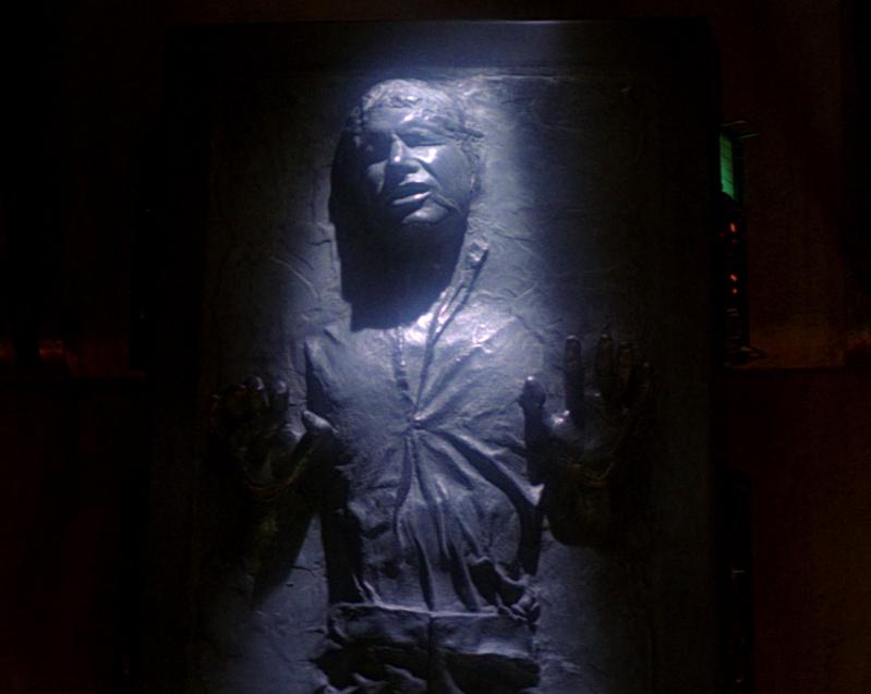 Han Solo pris dans la carbonite