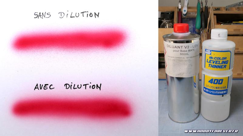 Les Graphic sont prêtes à l'emploi mais les diluer permet une vaporisation plus fine