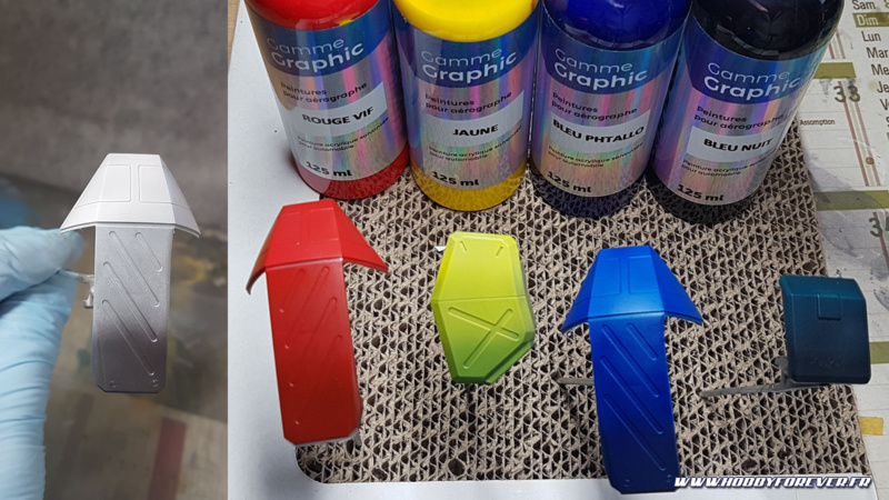 Essaie préalable de preshading avec les couleurs utilisées pour le Barzam