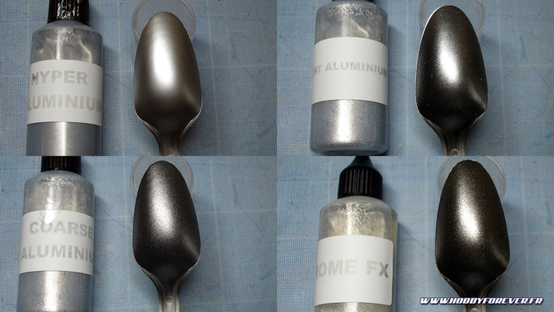 Hyper Aluminium / Bright Aluminium / Coarse Aluminium / Chrome FX