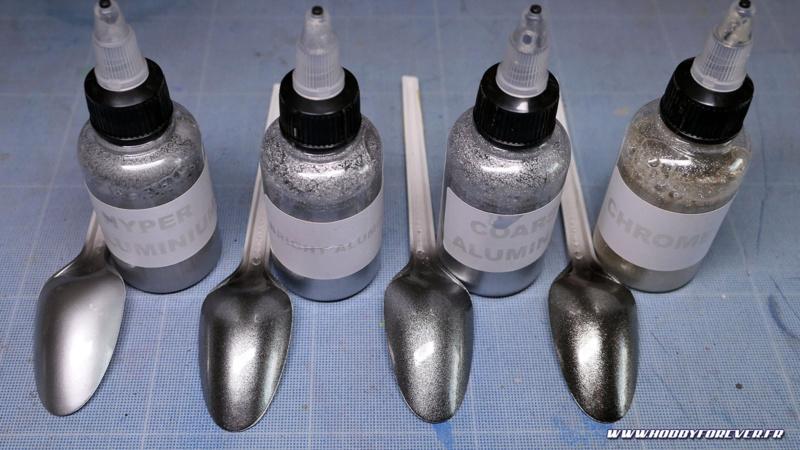 Hyper Aluminium / Bright Aluminium / Coarse Aluminium / Chrome FX avec vernis auto