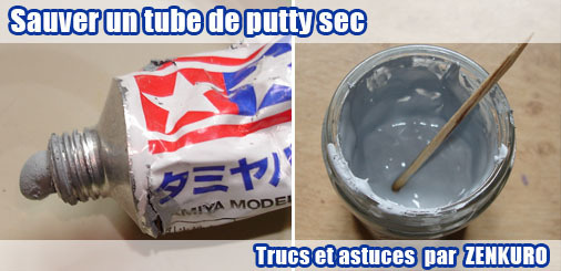 Sauver un tube de putty sec