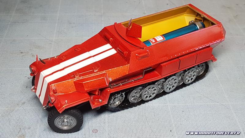 Les roues assemblées sur le Sdkfz 251