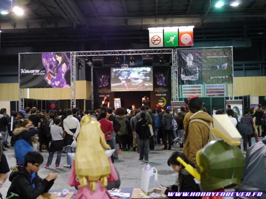 La scène de Kayané en face de notre stand, des shoryuken incessants dans nos tympans !