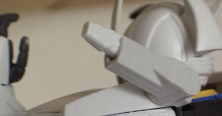 Le plastique blanc ABS est plus terne que le classique