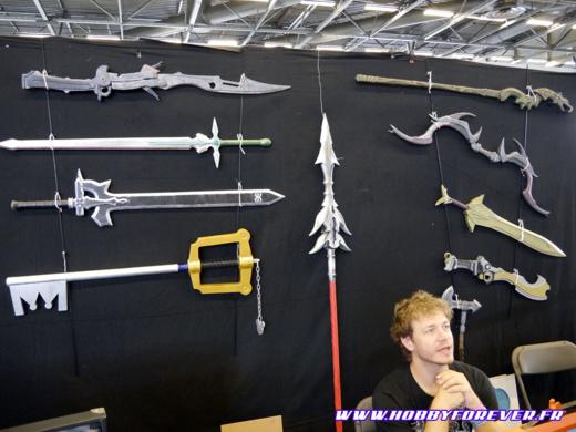 Le mur de répliques d'armes