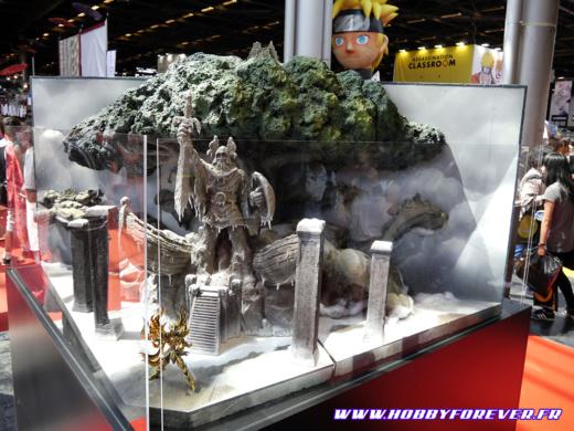 Diorama Saint Seiya sur le stand Tamashii Nation