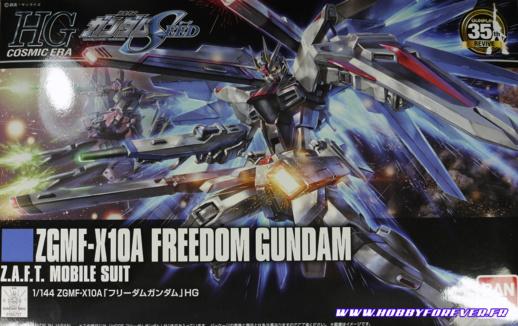 Boxart du HGCE Freedom Gundam REVIVE