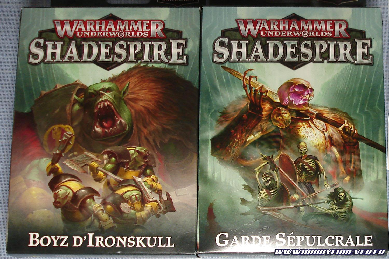 Les boites des Boyz d'Ironskull et de la Garde Sépulcrale