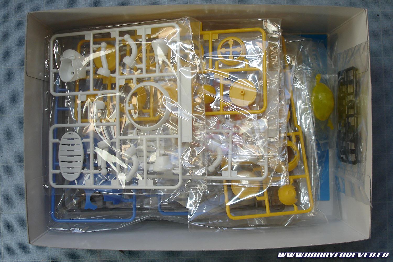 La boite n'est pas pleine à craquer mais il y a de quoi faire !