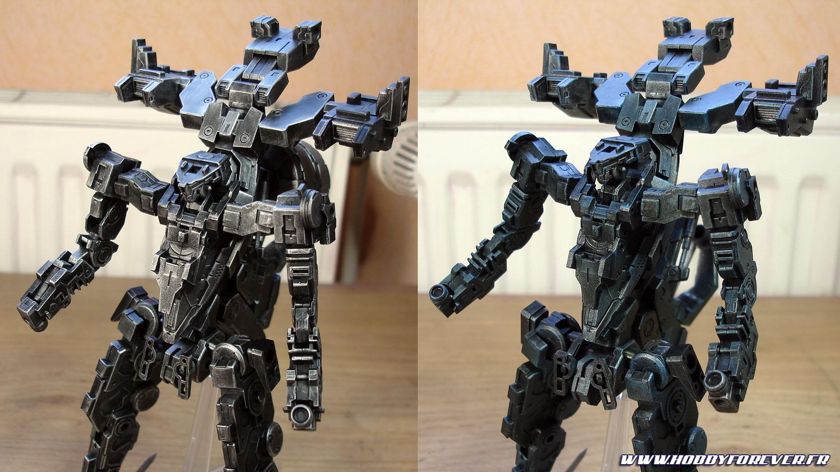 Le travail sur la frame : avant et après application des effets.