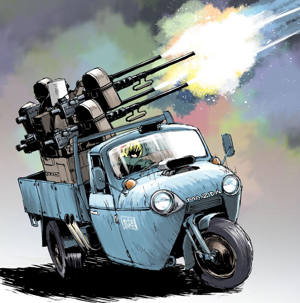 Triporteur Quad Gun ! Mazda T2000 x Quad Gun Trailer M55 (1ère partie)